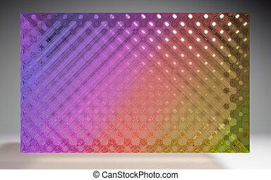 水晶, パターン, パネル, 色