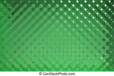 水晶, パターン, 緑
