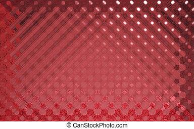 水晶, パターン, 赤