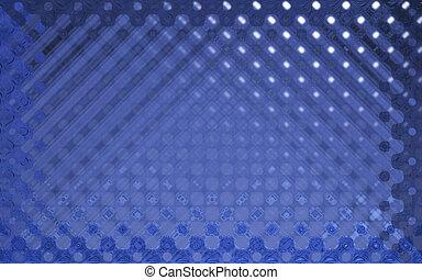 水晶, パターン, 青