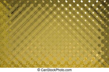 水晶, パターン, 黄色