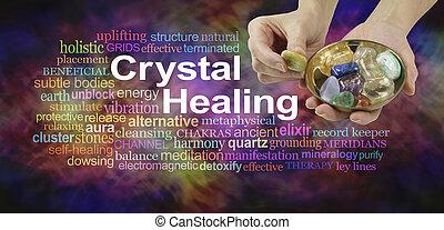 水晶, 単語, 治癒, 雲