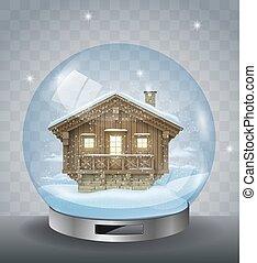 水晶, 家, ボール, クリスマス