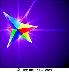 水晶, 抽象的, スペクトル, 背景, 白熱