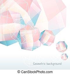 水晶, 抽象的, 幾何学的, 背景, ミネラル