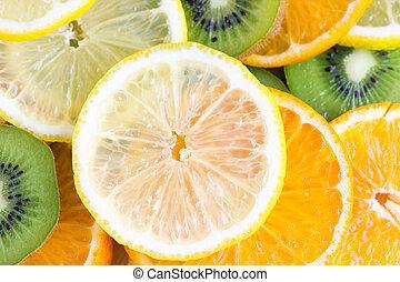 水果, 彙整, 薄片
