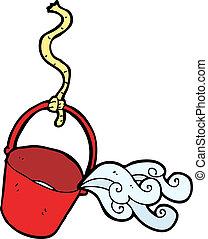 水桶, 卡通漫画