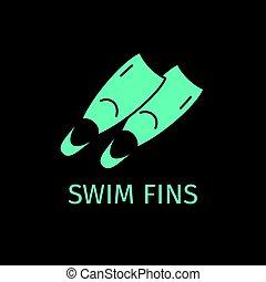 水泳ひれ, アイコン