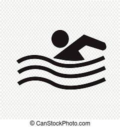 水泳, アイコン