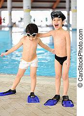水泳, 子供