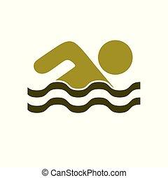 水泳, 水スポーツ, アイコン