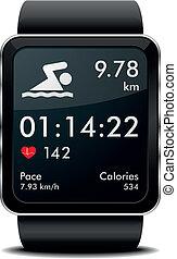 水泳, smartwatch, フィットネス