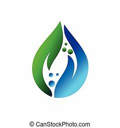 水滴, 手, ベクトル, sanitizer, 葉