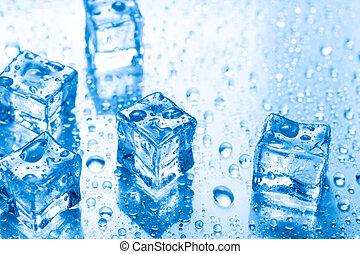 水滴, 氷 立方体