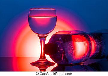 水玻璃, 反映, 背景