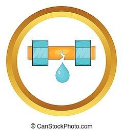 水管, 矢量, 滴下, 图标