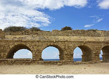 水路, 石, 古代ローマ, アーチ