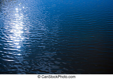 水, さざ波を起こされた, 表面