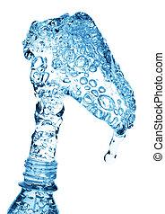 水, たたきつける