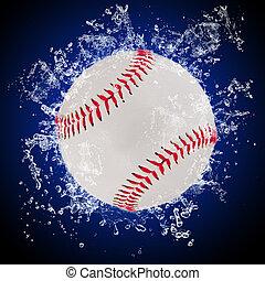 水, はねかけること, ボール, 野球