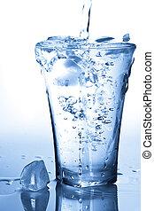 水 ガラス, はねかけること, 立方体, 氷