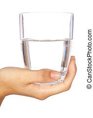 水 ガラス, 手を持つ