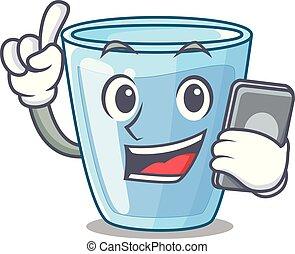 水 ガラス, 飲みなさい, 特徴, 電話