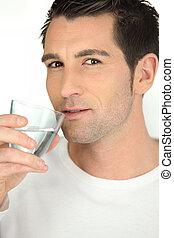水 ガラス, 飲むこと, 人