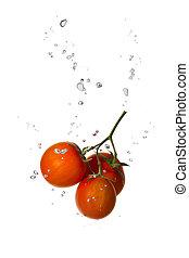 水, トマト, bub, さくらんぼ, 空気