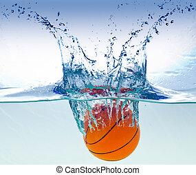 水, バスケットボール