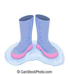 水, ブーツ