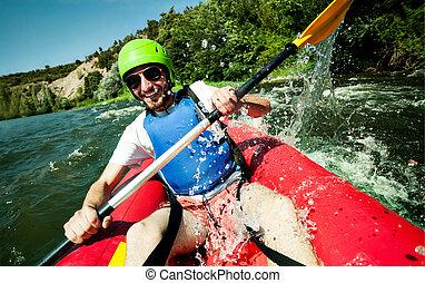 水, マレ, 冷静, canoeing, 幸せ