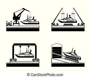 水, ヨット, 発射