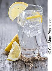 水, レモン, 光っていること