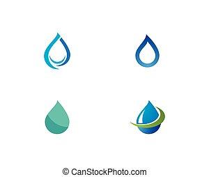 水, ロゴ, 低下