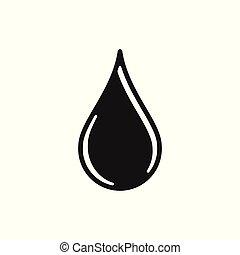 水, ロゴ, 低下, デザイン, インスピレーシヨン