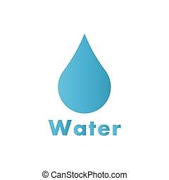 水, ロゴ, 低下, ベクトル