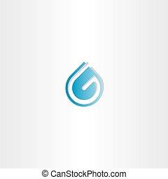 水, ロゴ, 低下, 手紙g