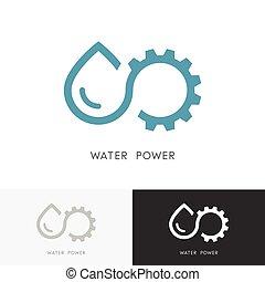 水, ロゴ, 力