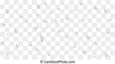 水, 下降, 背景, 透明, 矢量