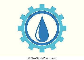 水, 企業, dsign, ロゴ