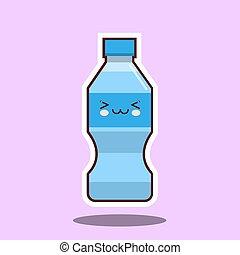 水, 印。, びん, kawawii, プラスチック