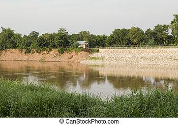 水, 土壌, 川, 浸食, 沿岸である