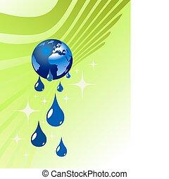 水, 地球の 地球, 低下