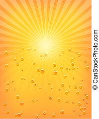 水, 太陽, 低下, sunburst, パターン