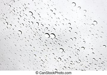 水, 小滴, 上に, フロントガラス, 車。