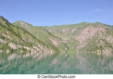 水, 山, 反射