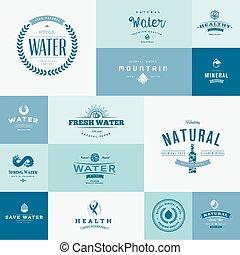 水, 平ら, デザインを設定しなさい, アイコン