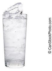 水, 平野, 立方体, 氷