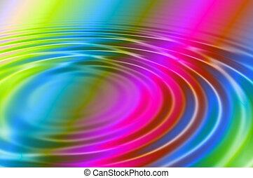 水, 彩虹, 在上方